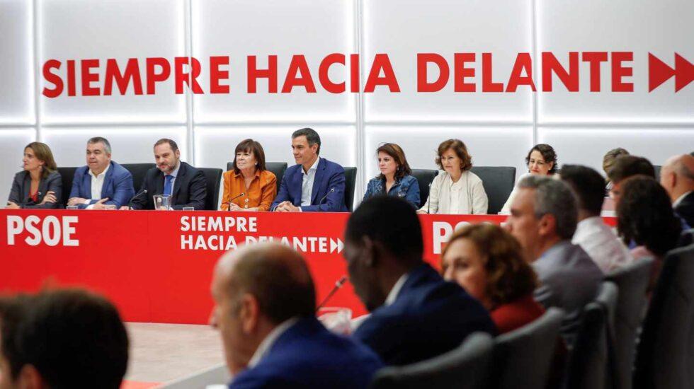 Pedro Sánchez, durante la reunión de la Ejecutiva del PSOE.