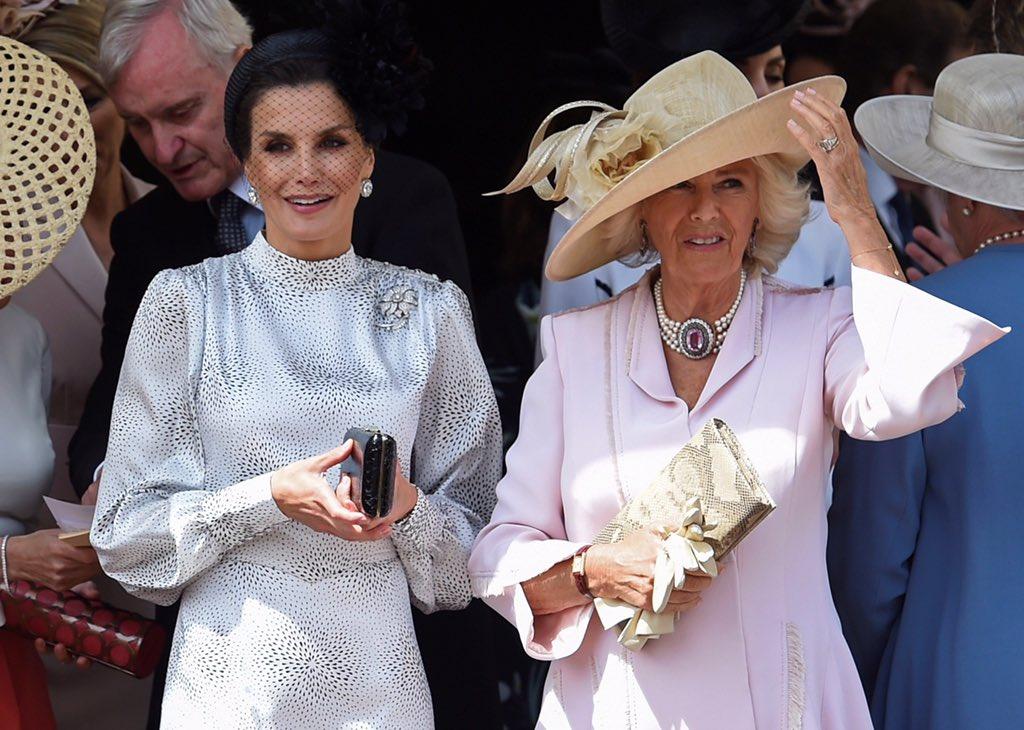 La reina Letizia junto a Camila Parker Bowles.