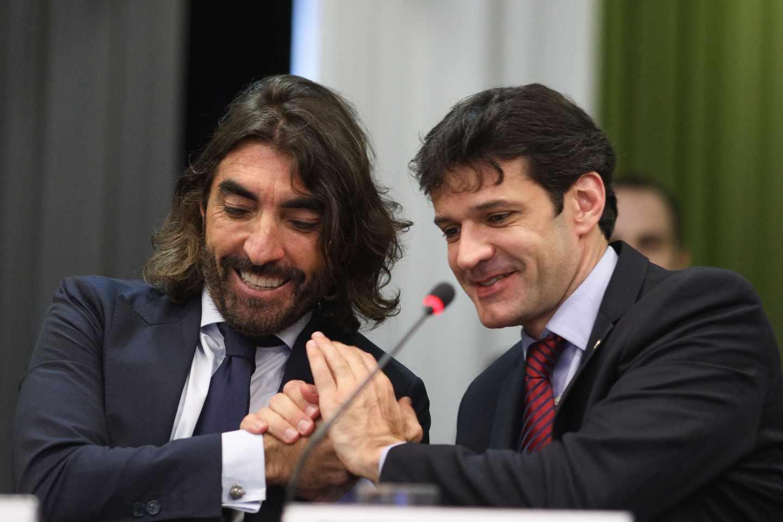 El consejero delegado de Globalia, Javier Hidalgo, y el ministro de Turismo de Brasil, Álvaro Antonio.