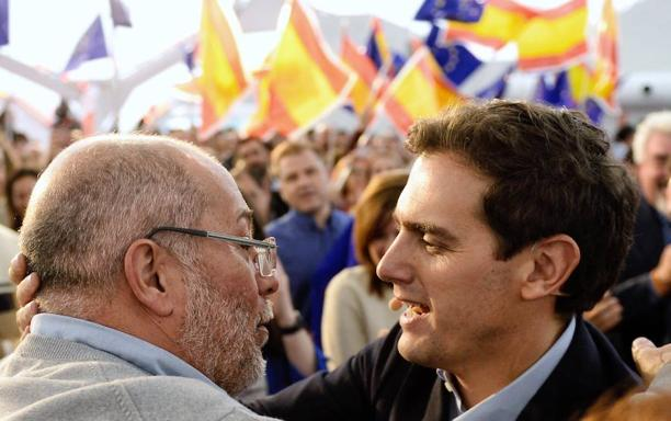 Albert Rivera junto a Francisco Igea