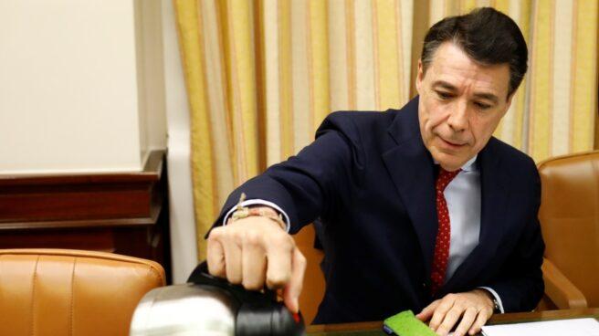 El ex presidente de la Comunidad de Madrid Ignacio González, durante una comparencia en el Congreso.