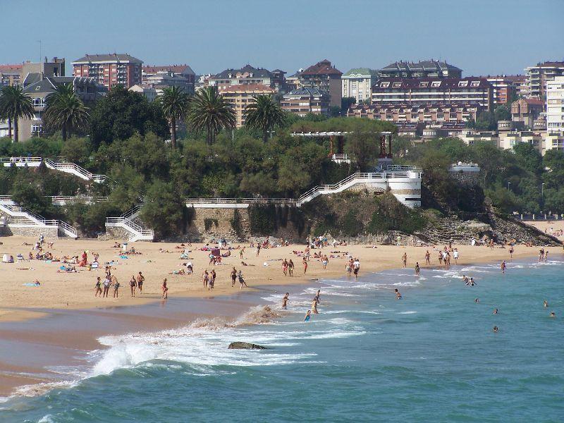 Playa primera del Sardinero