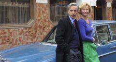 Imanol Arias y Ana Duato, durante el rodaje de Cuéntame.