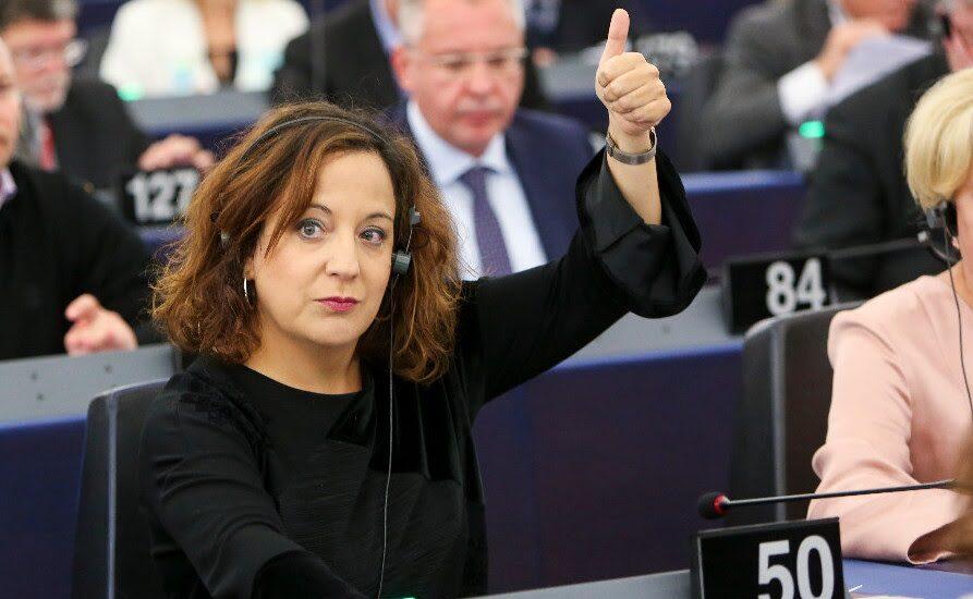 Iratxe García, en el Parlamento Europeo.