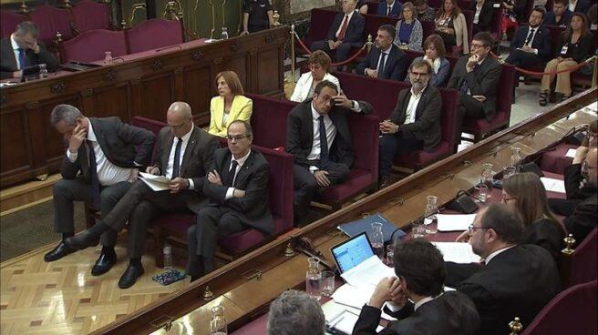 Banquillo de los acusados durante el juicio del 'procés', celebrado en el Tribunal Supremo.