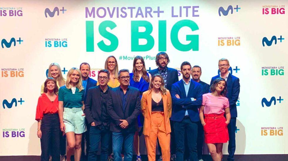 Presentadores de programas de los canales de Movistar+ en la presentación de Lite.