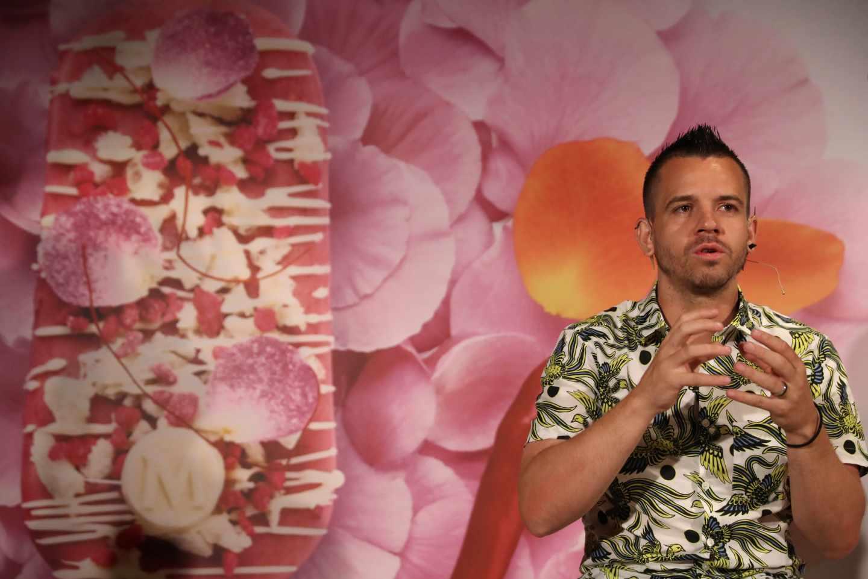 David Muñoz, durante la presentación de un helado de Magnum con su firma.