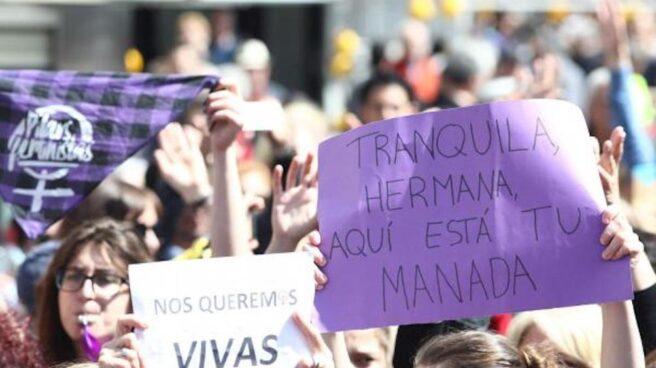 Manifestación feminista en contra de La Manada.