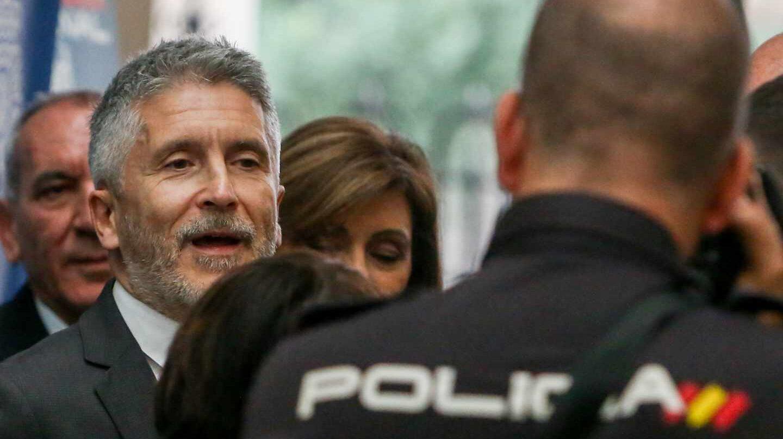 El ministro del Interior en funciones, Fernando Grande-Marlaska, el pasado viernes en una gala benéfica en Madrid.
