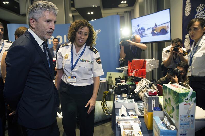 Fernando Grande-Marlaska, ministro del Interior en funciones, en un reciente acto de la Policía en Málaga.