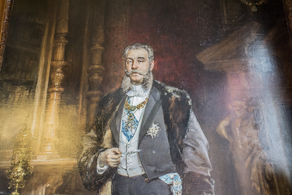 Retrato de José de Murga y Reolid, uno de los dos lienzos del Retrato de los Marqueses de Linares, expuesto en Casa de América.