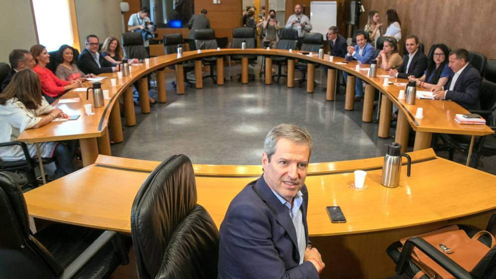 El candidato autonómico de Ciudadanos en Aragón, Daniel Pérez