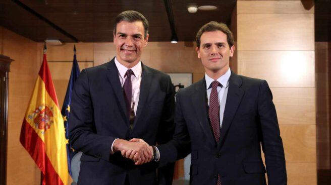 Pedro Sánchez y Albert Rivera.