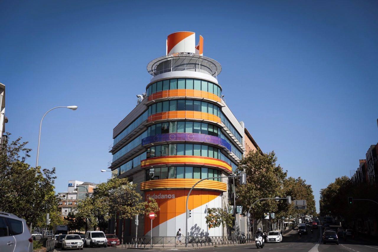 Sede de Ciudadanos, en Madrid.