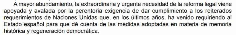 """Justificación de la """"extraordinaria y urgente"""" necesidad que el Gobierno razona en el decreto-ley."""