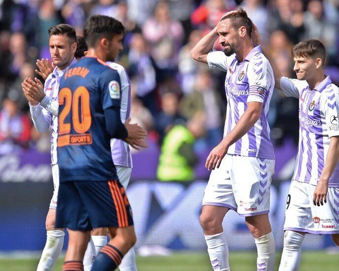 Un momento del pasado Valladolid-Valencia.