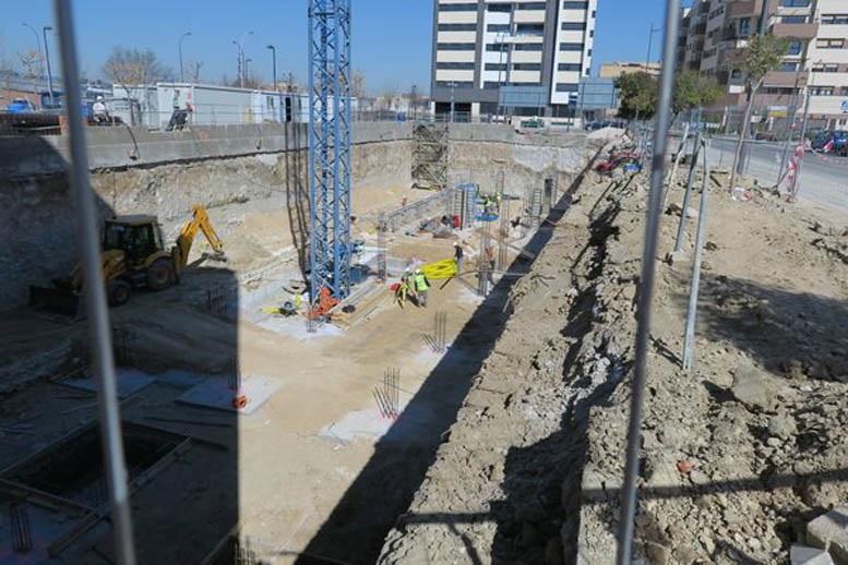 Obras de construcción de vivienda en Madrid.