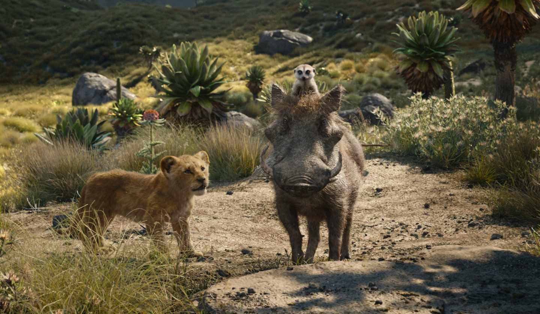 El rey león en CGI: Simba, Timón y Pumba