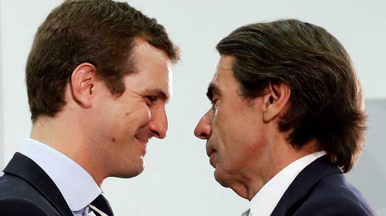 Pablo Casado y José María Aznar en FAES