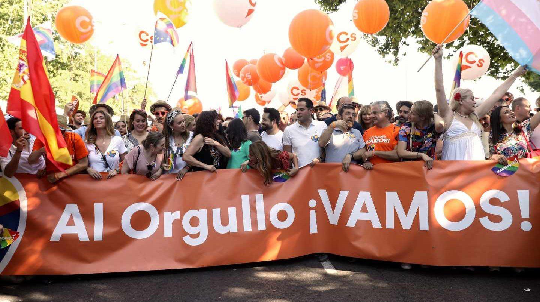 Representantes de Ciudadanos participan en el Orgullo 2019.