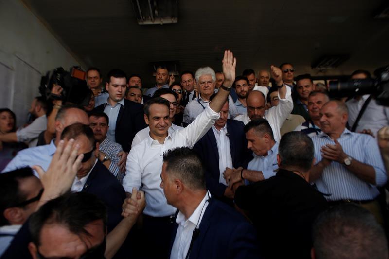 Kyriakos Mitsotakis, líder del partido conservador Nueva Democracia.
