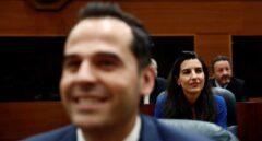 Ignacio Aguado y Rocío Monasterio en la sesión de hoy en la Asamblea de Madrid