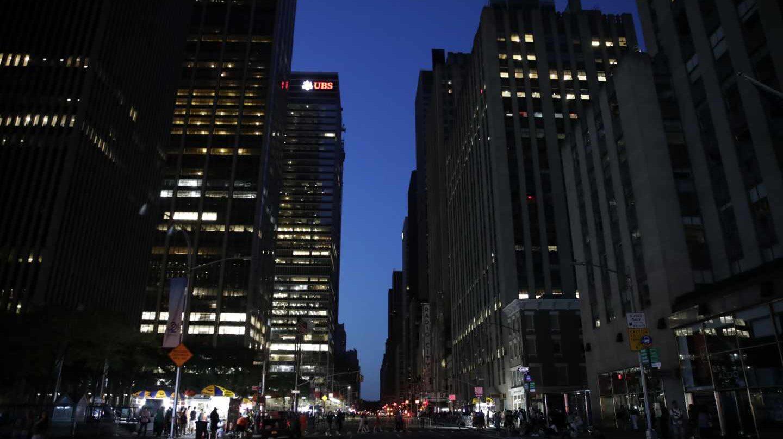 El centro de Manhattan, a oscuras
