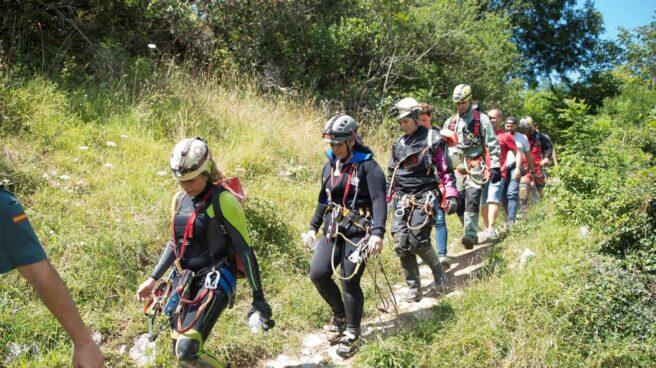 Las espeleólogas rescatadas en la cueva cántabra de Cueto-Coventosa.