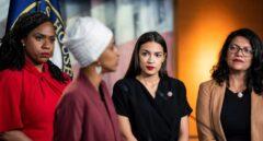 Ayanna Pressley, Ilhan Omar, Alexandria Ocasio-Cortez y Rashida Tlaib, en Washington.
