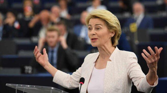 Ursula von der Leyen, en el Parlamento europeo.