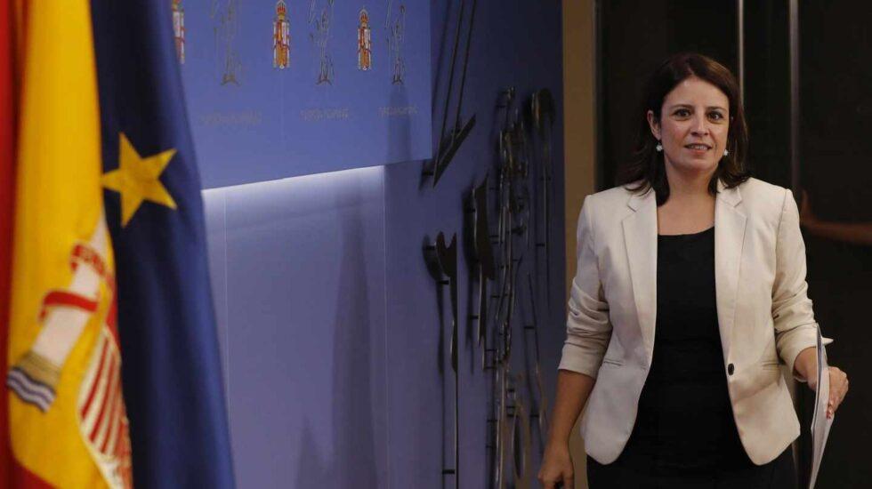 La portavoz del grupo socialista en el Congreso, Adriana Lastra.