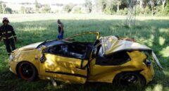 Coche accidentado en Salamanca.