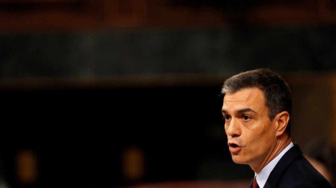 Sesión de investidura: Pedro Sánchez, en el Congreso.
