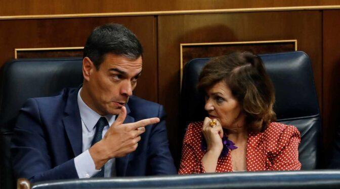 Sánchez deja en el aire a Carmen Calvo y no asegura su continuidad en el Gobierno
