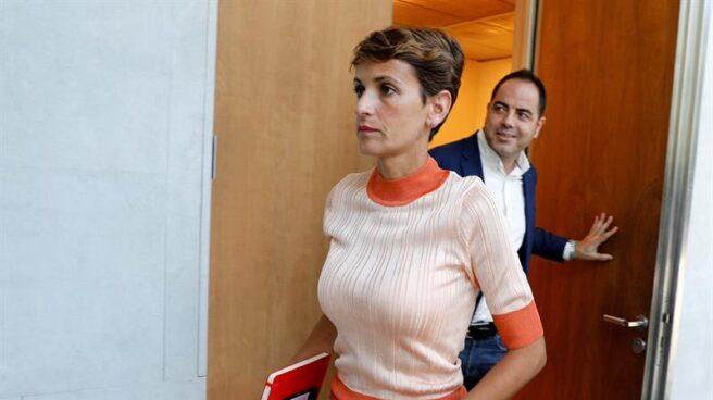 La candidata a la presidencia de Navarra del PSN, María Chivite.