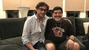 Asif Kapadia, el director, con Maradona