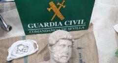 Busto de Adriano recuperado en Sevilla.