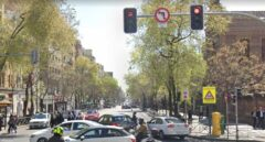 Cruce entre las calles Conde de Peñalver y Juan Bravo.