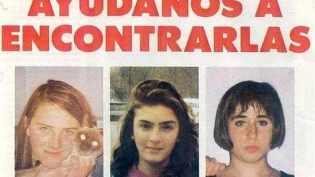 Cartel de búsqueda de Miriam, Toñi y Desirée, las niñas de Alcàsser