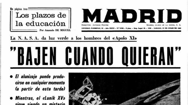 Diario Madrid 19 de julio 1969 | Biblioteca Nacional
