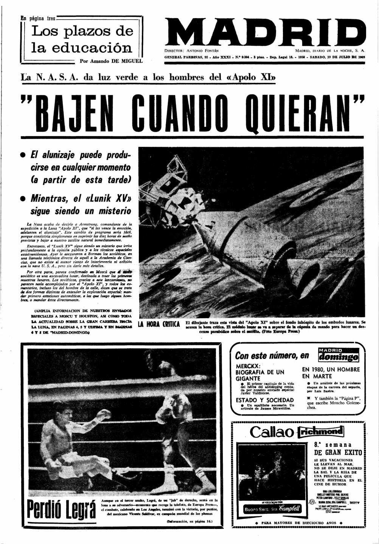 Diario Madrid del 19 de julio 1969 | Biblioteca Nacional