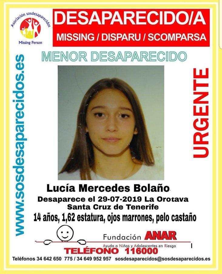 Menor desaparecida en Tenerife