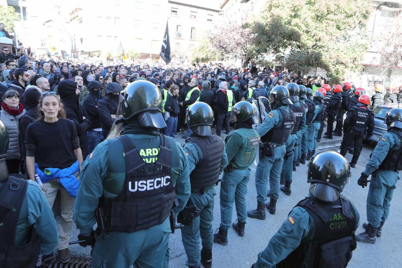 Guardias civiles, en una manifestación celebrada en Alsasua (Navarra) en noviembre de 2018.