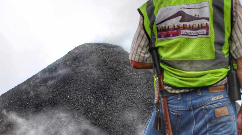 El volcán Pacaya es uno de los tres que hay activos en Guatemala