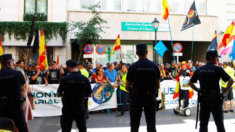 Manifestación de Jupol ante el Ministerio del Interior