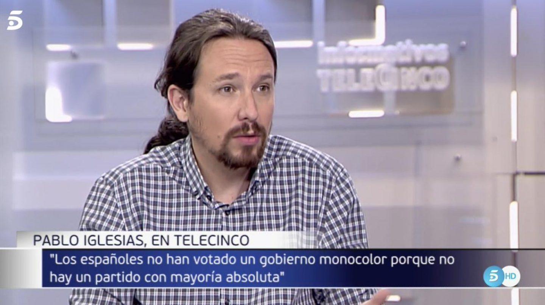 Pablo Iglesias, en Telecinco.