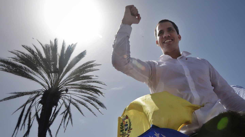 l presidente encargado, Juan Guaidó, en un encuentro con seguidores en Nueva Esparta, Venezuela.