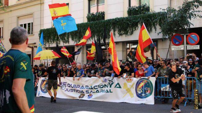 Protesta convocada por Jusapol el pasado mes de julio ante la Secretaría de Estado de Seguridad.