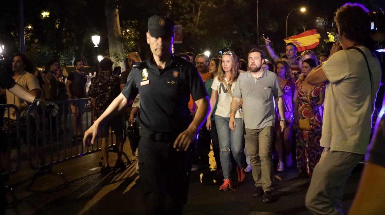 La comitiva de Ciudadanos es desalojada por la Policía