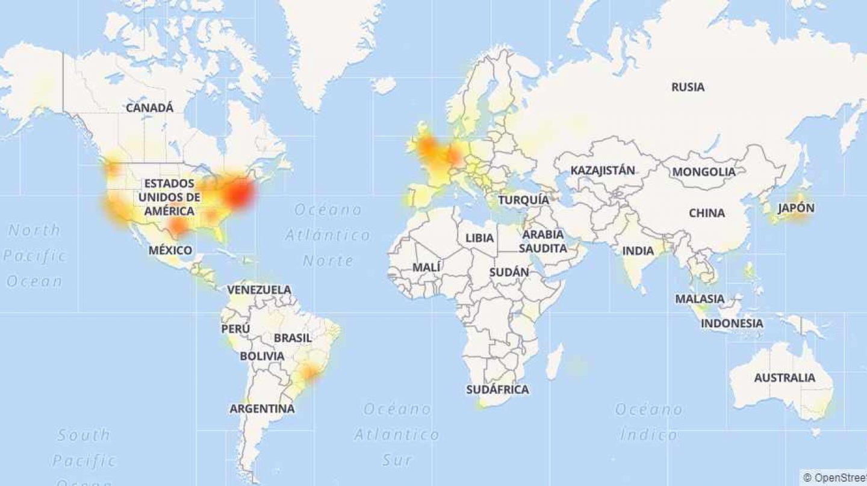 Mapa de incidencias de Twitter